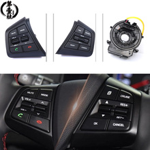 A set For Hyundai creta IX25 Audio Radio Control Cruise Control Switch Steering Wheel Switch Button Bluetooth phone with wire bluetooth steering wheel audio control mode switch for toyota corolla