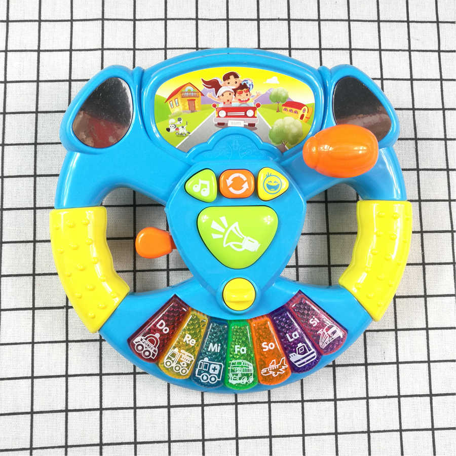 Promotion Toy Musical Instruments For Kids Baby Steering Wheel Musical Handbell Developing Educational Toys Children Gift DS19