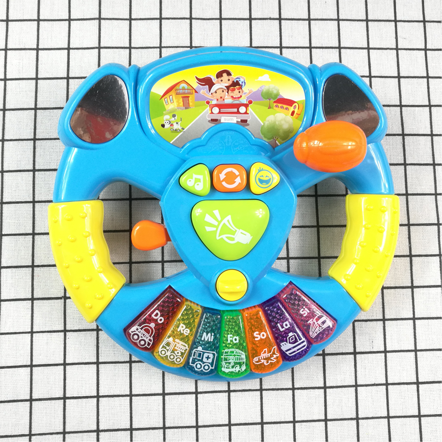Toy Musical Instruments For Kids Baby Steering Wheel Musical Handbell Developing Educational Toys Children Gift DS19