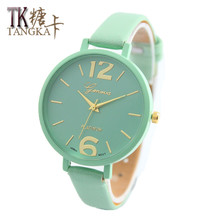 New Fashion Brand watches ladies luxurious watch Geneva Women Faux Leather Analog Quartz Wrist Watch relojes mujer Gift