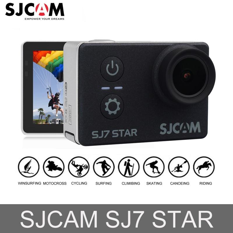 100% Original SJCAM SJ7 estrella WiFi 4 K GYRO pantalla táctil Mini coche DVR de Ambarella A12S75 30 m impermeable remoto deportes acción Cámara
