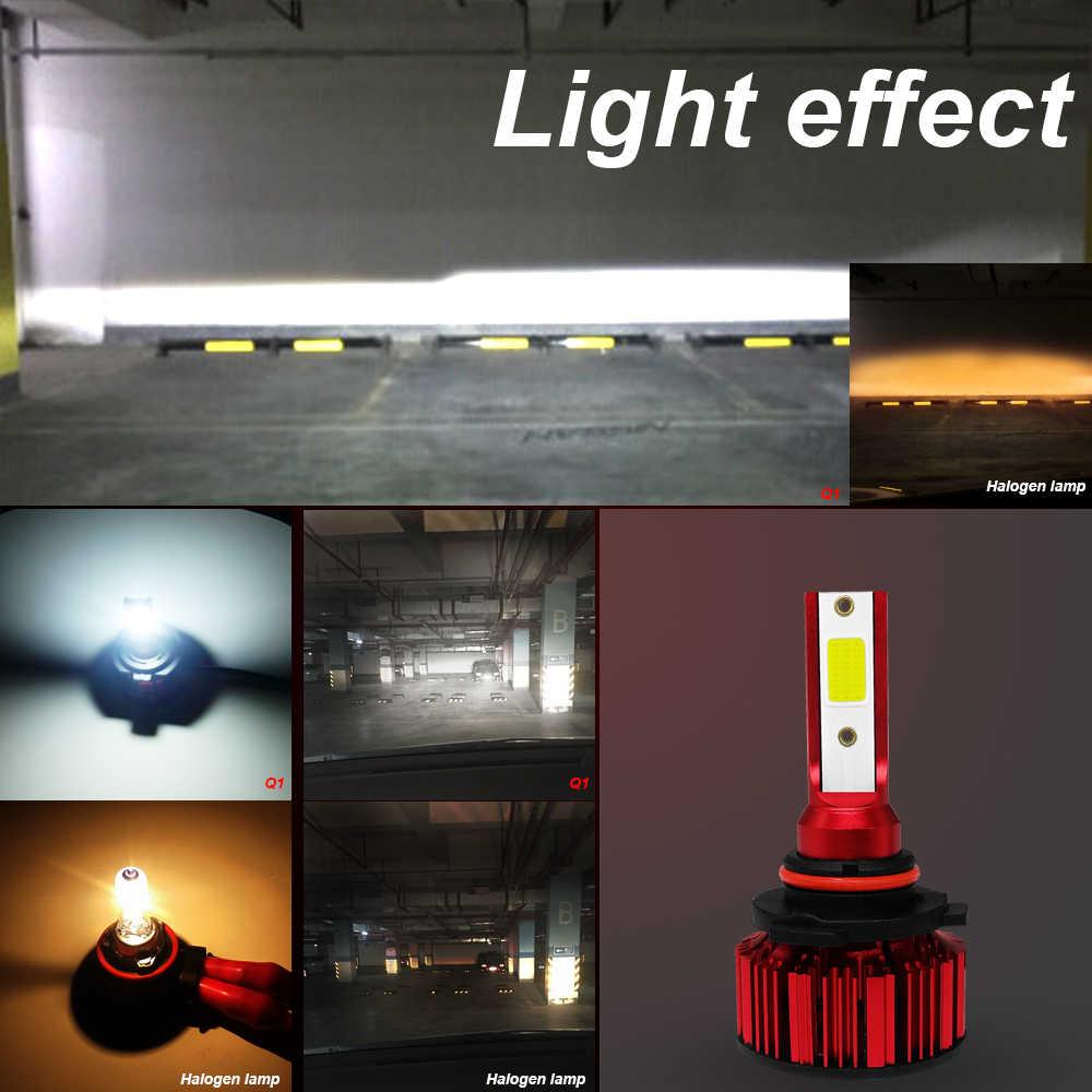 2x Q1 светодиодный фар 6000K светодиодный автомобильные лампы для фар 50 Вт 6000LM помощи при парковке ксеноновая лампа