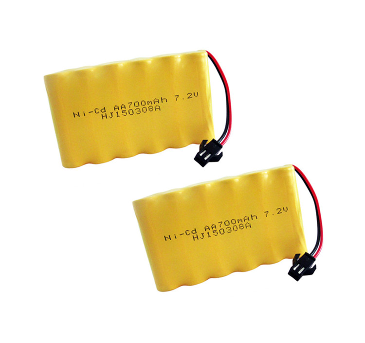 2pack 7.2v battery 700mah ni-cd 7.2v aa battery nicd batteries pack ni cd rechargeable for RC boat model car electric toys tank