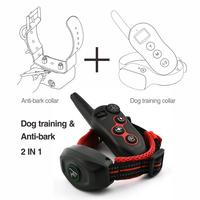 DoBe 400m 2 IN 1 Electric Remote Dog Training Shock Collar Waterproof Rechargeable Can Independent Use as Anti Bark Collar