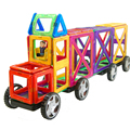 Aocoren 92 unids creador ladrillos educativos magformers magnéticos juguetes de diseño 3d diy bloques de construcción de juguetes de los niños
