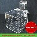 Alta transparência acrílico caixa de isolamento 1 3 incubadora incubadora de criação de peixes de água acessórios de peixe aquático