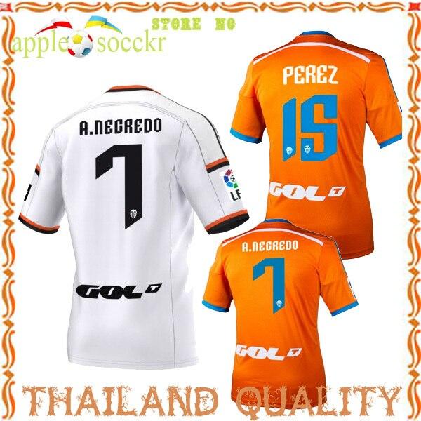 471e1e815ed Soccer Jersey Valencia 14 15 Away Orange OTAMENDI Valencia Jersey 2015  Camisetas Valencia CF 14 15 Home White Shirt PACO ALCACER