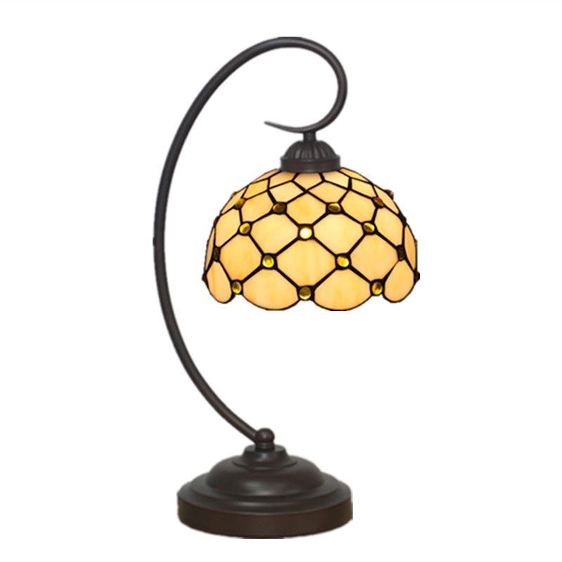 Elegant Tiffany Style Dotted Stain Gl Desk Table Lamp Luxurious Vintage Fashion Artistic Night Light Living Room Bedroom T144 In Lamps From Lights