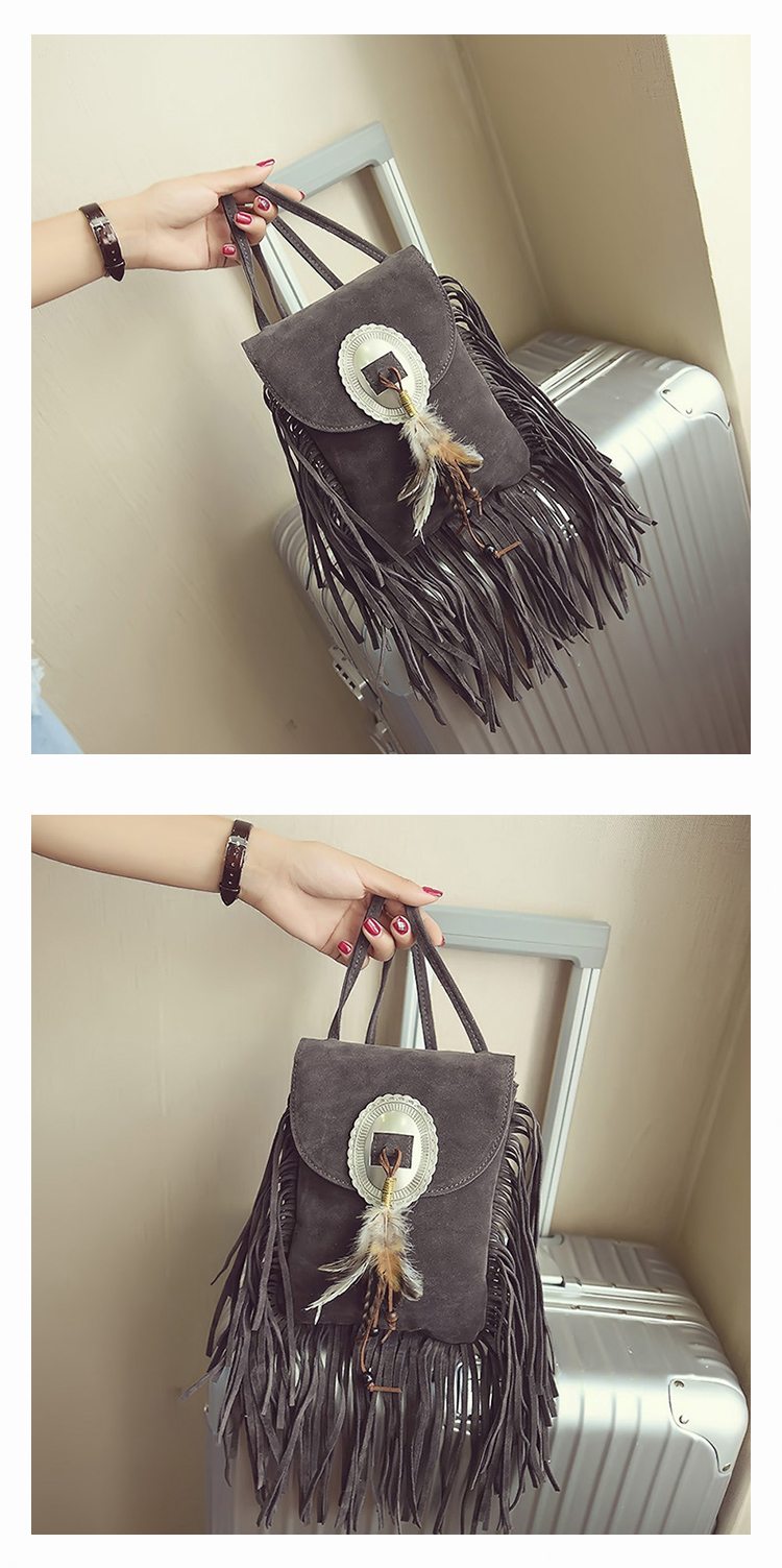 Female Small suede Bag Brown Beaded Feathers Hippie American Indian Tribal Bohemian Boho Chic Ibiza Style Pouch Bag (17)