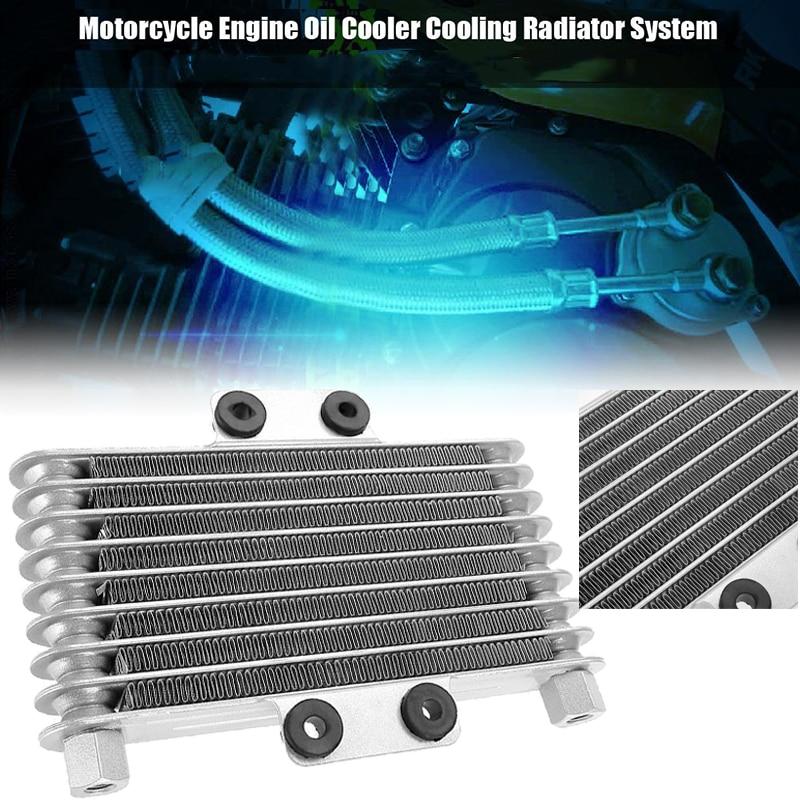 Cooling Temperature Universal 125ml Aluminum Replacement Cooler Engine Radiator 125CC 250CC Dirt Bike Silver