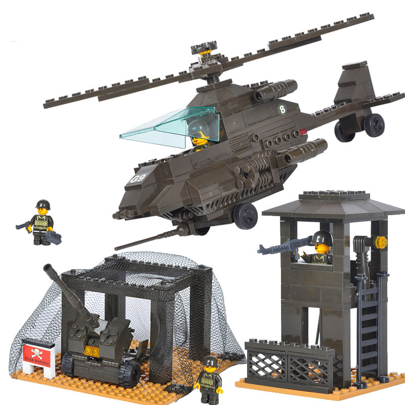 Models Building Toy 7100 1086pcs Military Army Headquarters