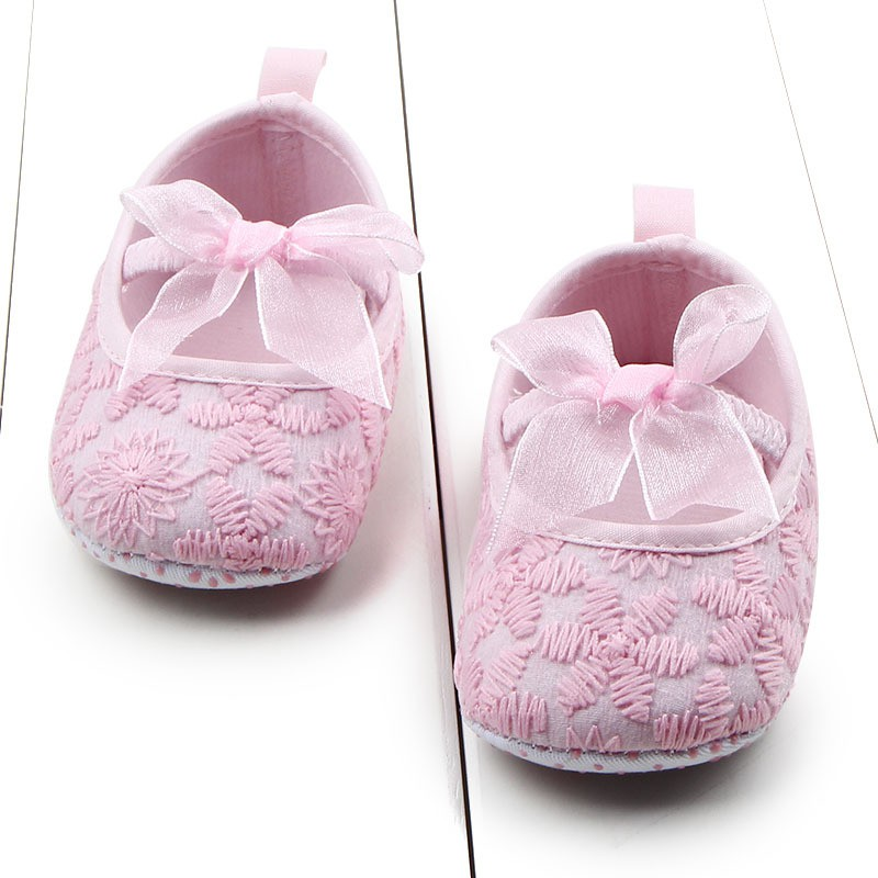 Hot Autumn Toddler Newborn Babys Infants Girls Shallow Soft Sole Crib Shoes Prewalkers 0 ...