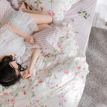 Country floral bedding set adult teen kid,full queen king cute flower cotton double bedclothes bed sheet pillow case quilt cover
