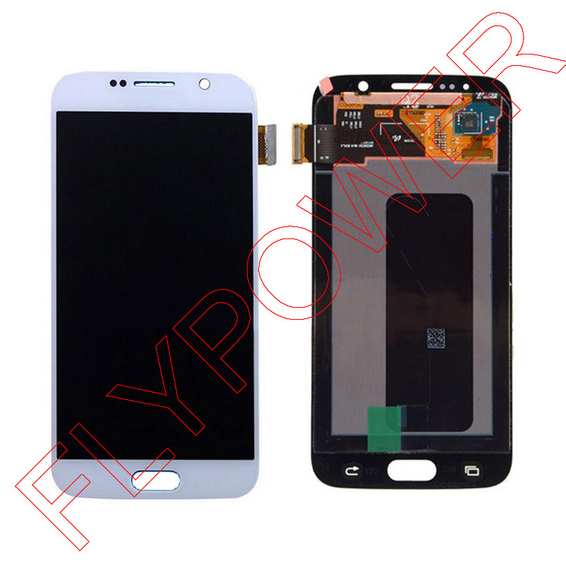 Lcd Display For Samsung S6 G9200 Touch Screen Assembly Blue White Gold Free Shipping