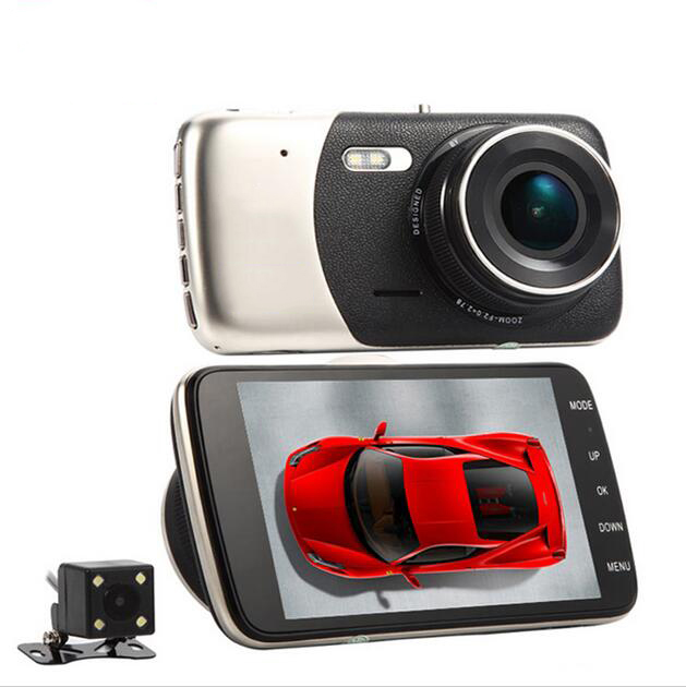 Excellent! Novatek Car dvr 4 Full HD1080P 170 Degree Dual lens Camera DVR Recorder 6G Lens Supper Night Vision Dash Cam 2 7 car dvr dual camera full hd 1080p allwinner car camera recorder front 140 rear 120 degree night vision hdmi g30b