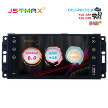 JSTMAX 7″ Android 8.0 Car GPS Radio Player for Jeep Chrysler Dodge with Octa Core 4GB+32GB Auto Stereo Navi Video Multimedia DAB