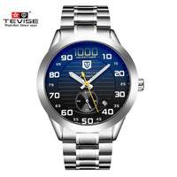 Free Shipping Casual Brand Calendar Stainless Steel Wristband Round Shape Fashion Quartz Eletronic Clock Men Fashion