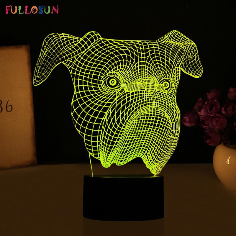 Luzes da Noite fofa 3d visual led night Formato : Animal