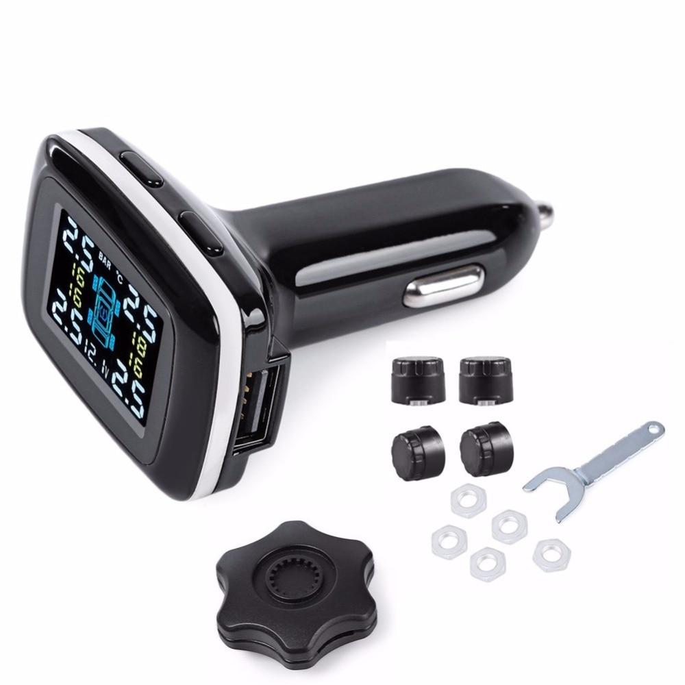 imágenes para TP620 Profesional Smart Wireless Tire Pressure Monitoring System TPMS 12 V Digital En Tiempo Real de Alarma de Presión de Cargador de Coche