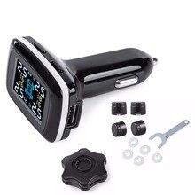 TP620 Profesional Smart Wireless Tire Pressure Monitoring System TPMS 12 V Digital En Tiempo Real de Alarma de Presión de Cargador de Coche