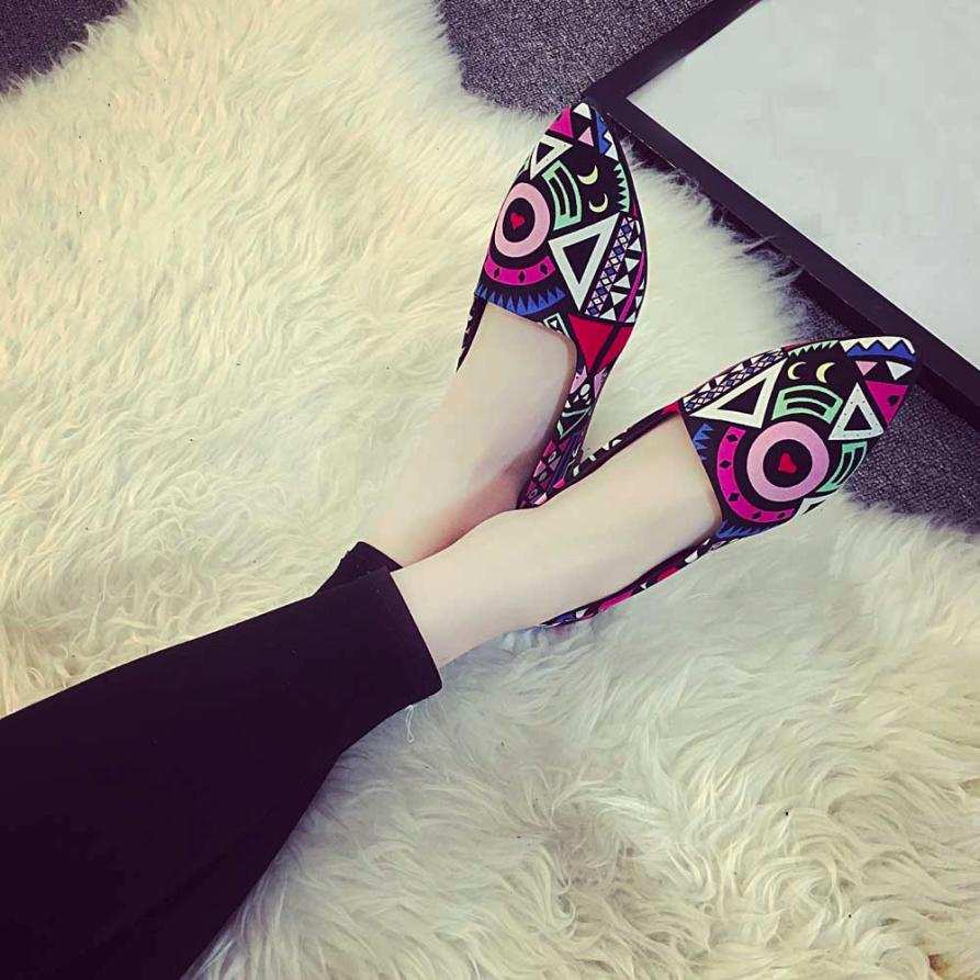 Women Summer Shoes Flats Ladies Casual Multicolor All Seasons Ballet Slip On Flats Loafers Shoes Feminine Pointed Toe Shoes