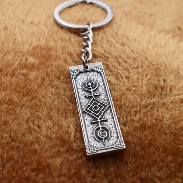 The Tree Of Life Sacred Geometric Symbols Amulets Runic Keychain The