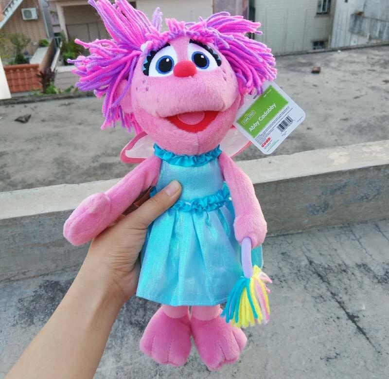 Us 12 42 10 Off Skyleshine Sesame Street Elmo The Abby Plush Doll 30cm Cute Stuffed Girls Toys Gift Peluche Doll In Movies Tv From Toys Hobbies