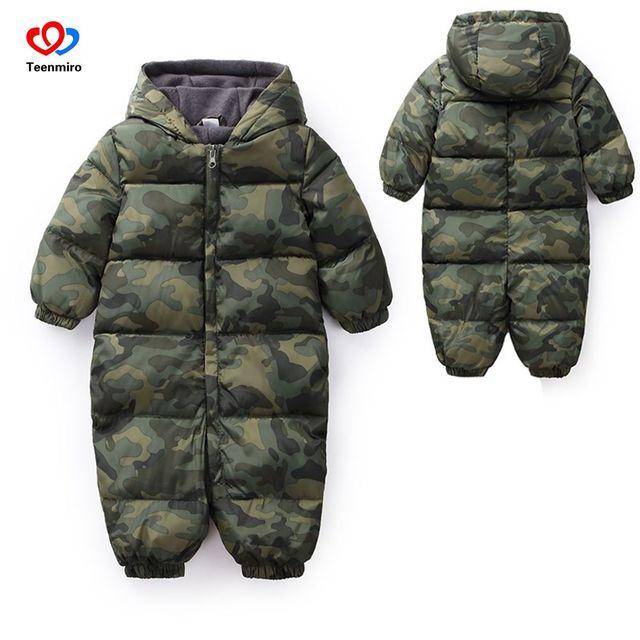 b2def898580c Winter Jumpsuit Newborn Snowsuit Baby Snow Wear Cotton Warm ...