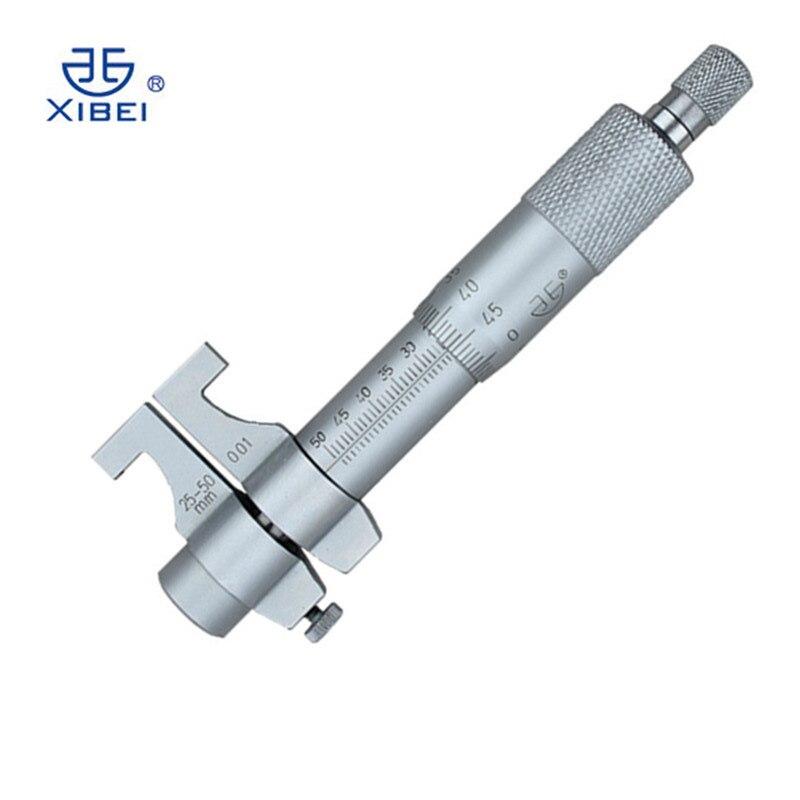 À l'intérieur micromètre 25-50mm/0.01 caliper haute précision échelle vernier micrometro gros étriers interne cadran jauge