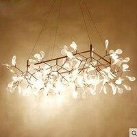 Nordic chandelier minimalist living room chandelier creative personality firefly restaurant chandelier modern designer led lamps