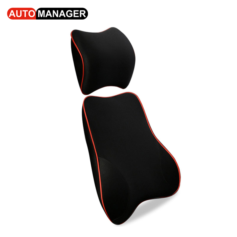 3D Memory Foam Lumbar Support for Car Seat Office Chair Auto Seat Back Massager Pillows