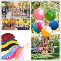 18 Inch Giant Balloon Colorful Blow Up Ball Balloon Helium Inflable Latex Big Balloon For Birthday