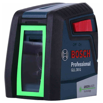 BOSCH GLL30G Self Leveling Laser Level with 2 Line Horizontal and Vertical Green Beams