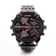 Marca OULM reloj de 3548 Relojes de Moda para Los Hombres de Acero Inoxidable 2 Tiempo de reloj de Cuarzo Reloj de Acero Inoxidable dz Relogio masculino Marca Original