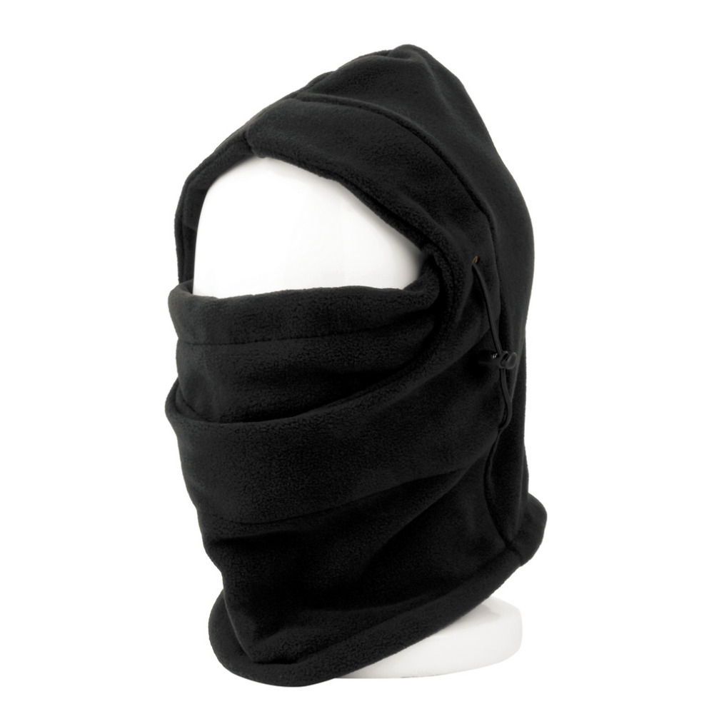 Unisex Mask Motorcycle Ride Helmet Mask Cap Windproof Balaclava Hat Hooded Winter Sports Face Mask Fleece Neck Warmer