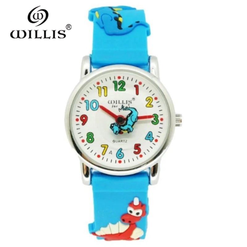 WILLIS Brand Waterproof Kids Watch Children Dinosaur 3D Cartoon Silicone Watches Quartz Clock Fashion Casual Relogio Watch