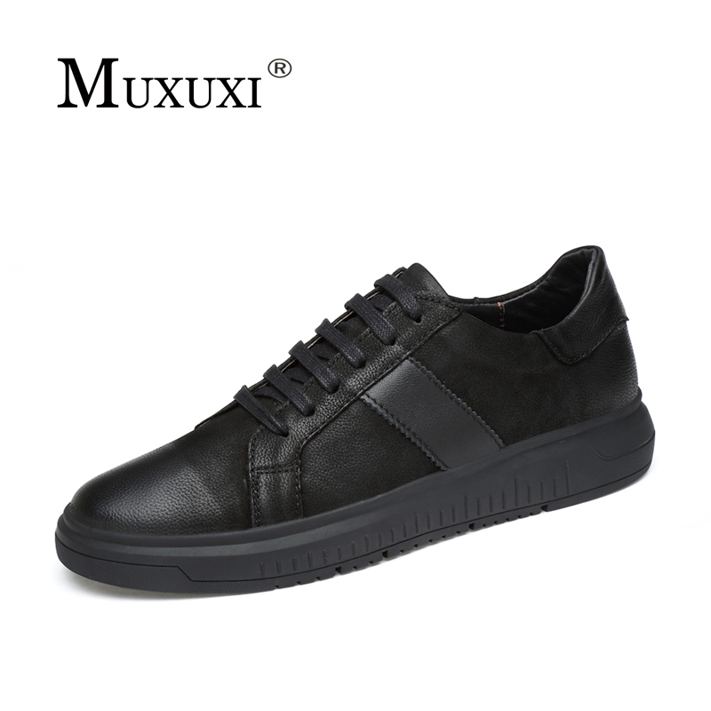 2018 British Style Big Size 46 Men's Casual Shoes Breathable Fashion Lace-up Flats Shoes black Brand Design Casual Leather Shoes beffery 2018 british style patent leather flat shoes fashion thick bottom platform shoes for women lace up casual shoes a18a309