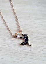 Black Cat Box Necklace