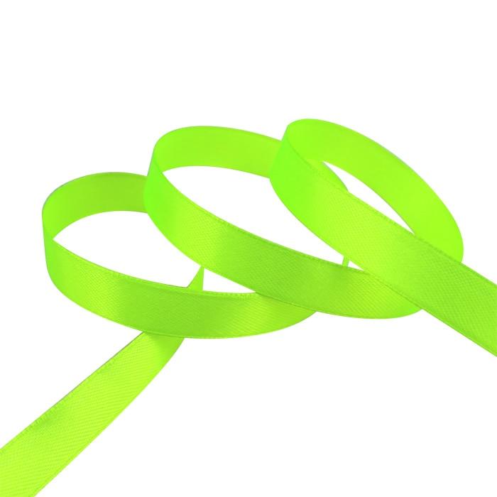 25 ярдов/рулон) атласная лента оптом, подарочная упаковка, рождественские украшения сделай сам, с лентой, с местом для рулон ткани(6/10/12/15/20/25/40 мм - Цвет: Fluorescent Green