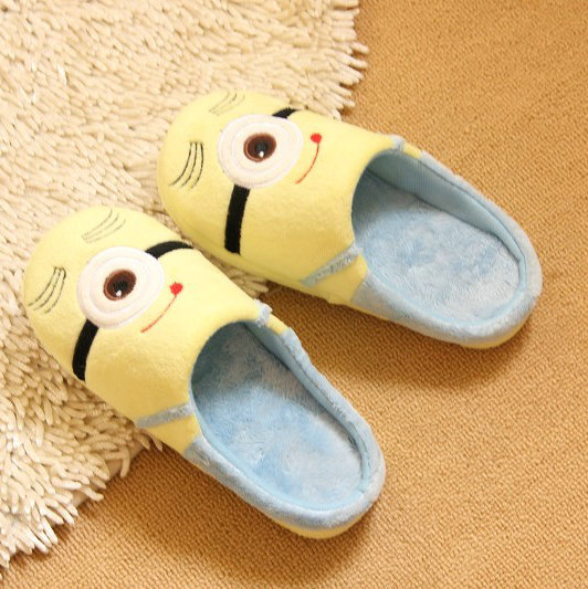 wholesale Despicable Me 2 home slippers Precious Milk Dad floor slippers ladies shoes spring minion slippers drop Shipping 3d eye despicable me minion cartoon watch precious milk dad cute children clock baby kid quartz wrist watches for girls boys