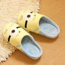 wholesale Despicable Me 2 home slippers Precious Milk Dad floor slippers ladies shoes spring minion slippers drop Shipping