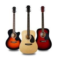 41 polegada/40 polegada baixo madeira guitarra acústica SOL vermelho natural acústico guitarra instrumento musical wolesale oem EMS grátis