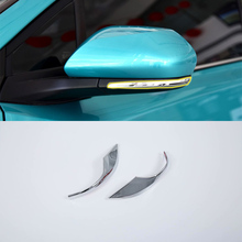 2018 ABS Chrome Rearview Mirror Eyebrow Cover Decoration Trim 2pcs For TOYOTA CH-R