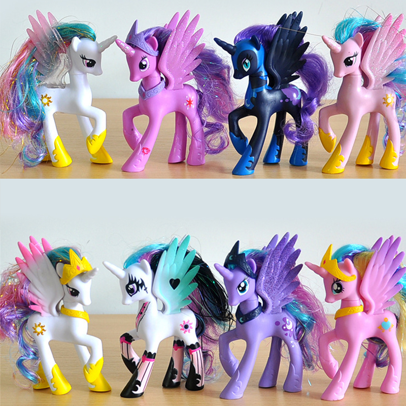 2018 My Cute Little  Horse  Birthday Party Tool Action Toy Figurine Dolls For Girl Christmas Gift Unicorn Toy my christmas cd