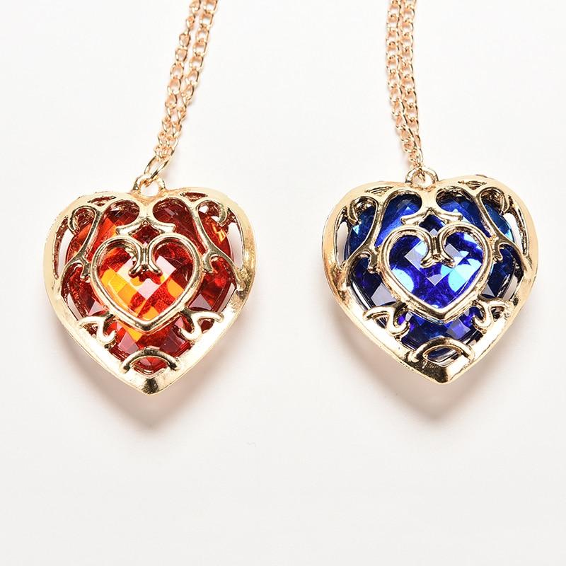 Zelda Heart Container Necklace: The Legend Of Zelda Skyward Sword Heart Chocer Colar