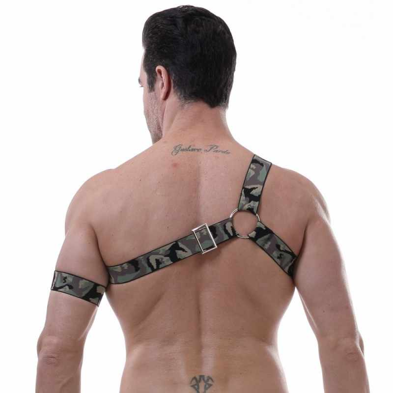 ... Sexy Body Harness One shoulder Chest belt Lingerie Men Elastic Straps  Bondage Costumes Performance Costume gay ...