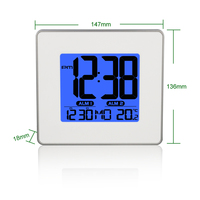 Очень большой Температура Календари Дисплей рабочего Будильник Повтор Mute характер Спальня электронные цифровые часы