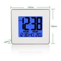 Bardzo Duży Wyświetlacz Pulpitu Budzik Drzemki Kalendarz Temperatura Charakter Sypialnia Elektroniczny Cyfrowy Zegar Wyciszenia