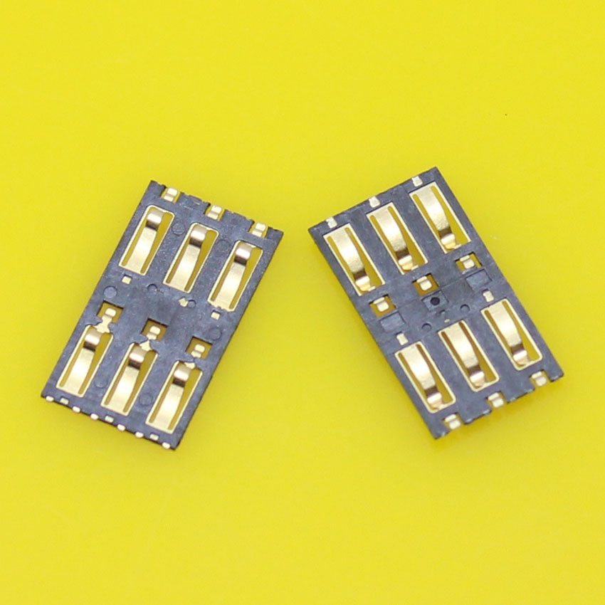 Best Price,2pcs/lot sim card socket reader holder connector tray slot adapters replacement for Xiaomi 3.