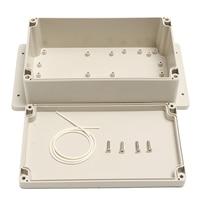 1pc White Plastic Electronic Project Instrument Case Waterproof Enclosure Box 200x120x75mm